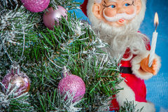 Christmas Tree with Santa Claus Royalty Free Stock Image