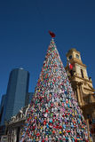 Christmas Tree in Santiago Royalty Free Stock Photos