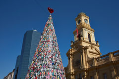 Christmas Tree in Santiago Stock Photo