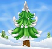 Christmas tree scene Stock Images