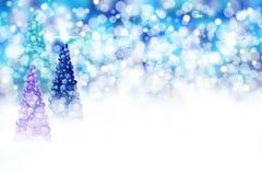 Christmas tree scene Royalty Free Stock Photo