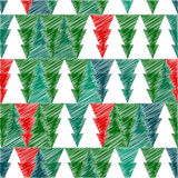 Christmas tree with scetch lines. Vector card. EPS Stock Image