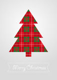 Christmas tree with scotland pattern vector Royalty Free Stock Photo