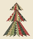Christmas tree for scrapbooking 3 Royalty Free Stock Photos