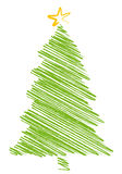 Christmas tree scribble,  Stock Images