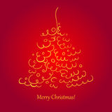 Christmas tree scroll Stock Images