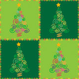 Christmas tree seamless. Christmas tree abstract background illustration, made as a seamless pattern. Also available as a Vector in Adobe illustrator EPS format Royalty Free Stock Photo