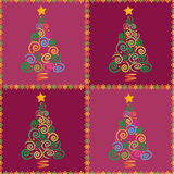 Christmas tree seamless. Christmas tree magenta abstract background illustration, made as a seamless pattern Royalty Free Stock Photos