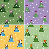 Christmas-tree seamless Stock Photo