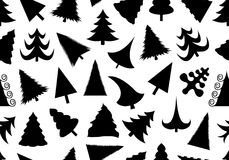 Christmas tree seamless illustration. Isolated on white Royalty Free Stock Photo