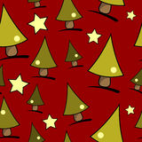 Christmas tree seamless pattern Stock Photos