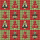 Christmas tree  seamless pattern 2 Stock Photography