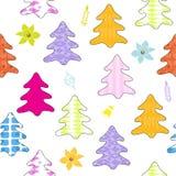 Christmas tree seamless pattern. Stock Photos