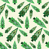 Christmas tree seamless pattern Stock Image