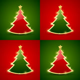 Christmas tree seamless pattern Royalty Free Stock Image