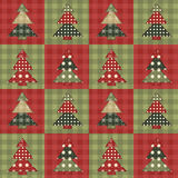 Christmas tree  seamless pattern 3 Stock Image