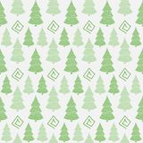 Christmas tree seamless pattern. Abstract in green tones Christmas tree seamless pattern royalty free illustration