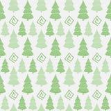 Christmas tree seamless pattern Royalty Free Stock Photos