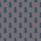 Christmas tree seamless pattern. On a rosybrown background Royalty Free Stock Photography