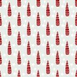 Christmas tree seamless pattern. Vector winter holiday illustration Royalty Free Stock Image