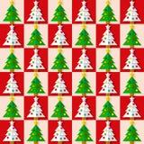 Christmas tree seamless pattern Stock Photo