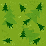 Christmas tree seamless pattern Stock Images