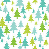 Christmas tree seamless pattern Royalty Free Stock Photo