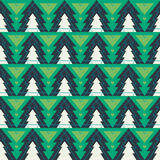Christmas tree seamless pattern. Christmas tree fir seamless pattern with lines Royalty Free Stock Photos