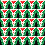 Christmas tree seamless pattern. Christmas tree fir seamless pattern with lines Stock Images