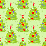 Christmas tree seamless pattern Royalty Free Stock Photo