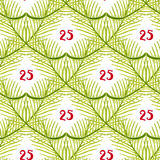 Christmas tree seamless pattern. Hand painted texture background Royalty Free Stock Photos