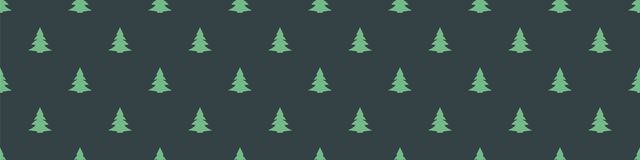 Christmas tree seamless pattern - holiday spirit - gift wrap. Seamless dark green texture with cute Christmas trees royalty free illustration