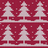 Christmas tree seamless pattern Royalty Free Stock Photography