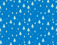 Christmas tree Seamless pattern for new year greeting card/wallpaper background. Vector Illustration. Fir tree symbol Stock Images