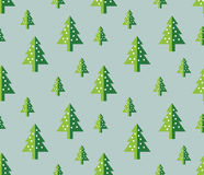 Christmas tree Seamless pattern for new year greeting card/wallpaper background. Vector Illustration. Fir tree symbol Royalty Free Stock Photo