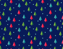 Christmas tree Seamless pattern for new year greeting card/wallpaper background. Vector Illustration. Fir tree symbol Royalty Free Stock Images