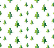 Christmas tree Seamless pattern for new year greeting card/wallpaper background. Vector Illustration. Fir tree symbol Stock Photo