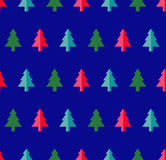 Christmas tree Seamless pattern for new year greeting card/wallpaper background. Vector Illustration. Fir tree symbol Stock Image