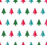 Christmas tree Seamless pattern for new year greeting card/wallpaper background. Vector Illustration. Fir tree symbol Royalty Free Stock Image
