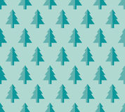 Christmas tree Seamless pattern for new year greeting card/wallpaper background. Vector Illustration. Fir tree symbol Royalty Free Stock Photography