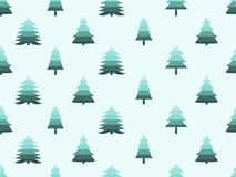 Christmas tree seamless pattern retro style. Vector. Illustration Stock Photos