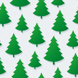 Christmas tree seamless pattern. Royalty Free Stock Photos
