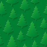 Christmas tree seamless pattern. Stock Photo