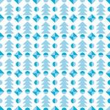 Christmas tree seamless pattern. Vector festive illustration. Stock Photography