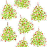 Christmas tree seamless pattern Royalty Free Stock Image