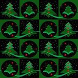 Christmas tree seamless patterns Stock Photography
