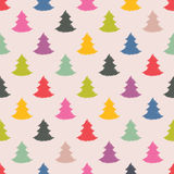 Christmas tree seamless texture design Royalty Free Stock Photo