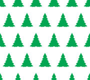Christmas tree seamless vector pattern Royalty Free Stock Image