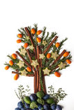 Christmas tree from seasoning , fruit and spices Royalty Free Stock Photo