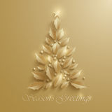 Christmas tree. Seasons Greeting. Stock Photos